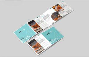 Square 4 – Fold Brochure Free Mockup (PSD)
