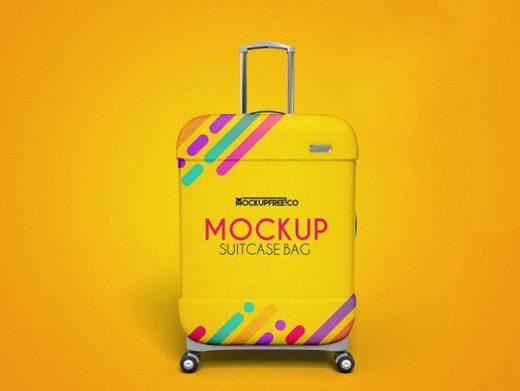 Suitcase Bag Free PSD Mockup