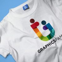 Free PSD T-Shirt & Tag Mockup