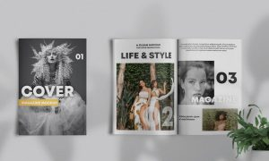 Magazine Showcase Free Mockup (PSD) Template