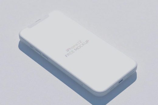 iPhone 12 Diagonally Free PSD Mockup