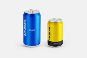 2 Soda Can Free Mockups (PSD)