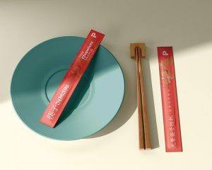 Chopsticks Packaging Free Mockup (PSD)