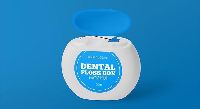Dental Floss Box Free Mockups