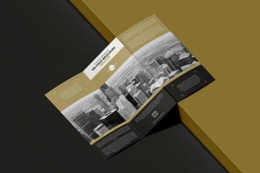 Elegant Branding Tri-Fold Brochure Free Mockup