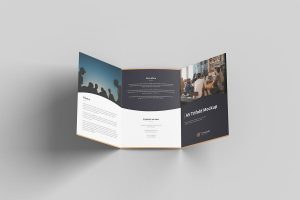 A5 Trifold Brochure Free Mockup