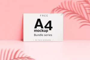 Free A4 Poster Bundle Series Mockup