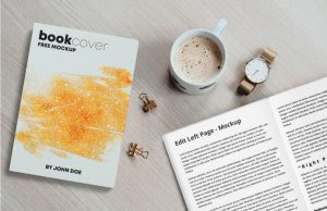 Free Book Cover & Inner Pages Mockup