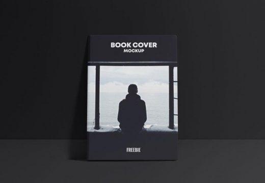 Free Book Cover Scene Mockup (PSD)
