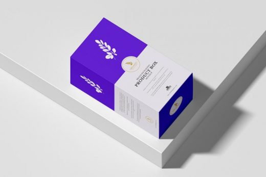 Free Brand Packaging Product Box Mockup (PSD)