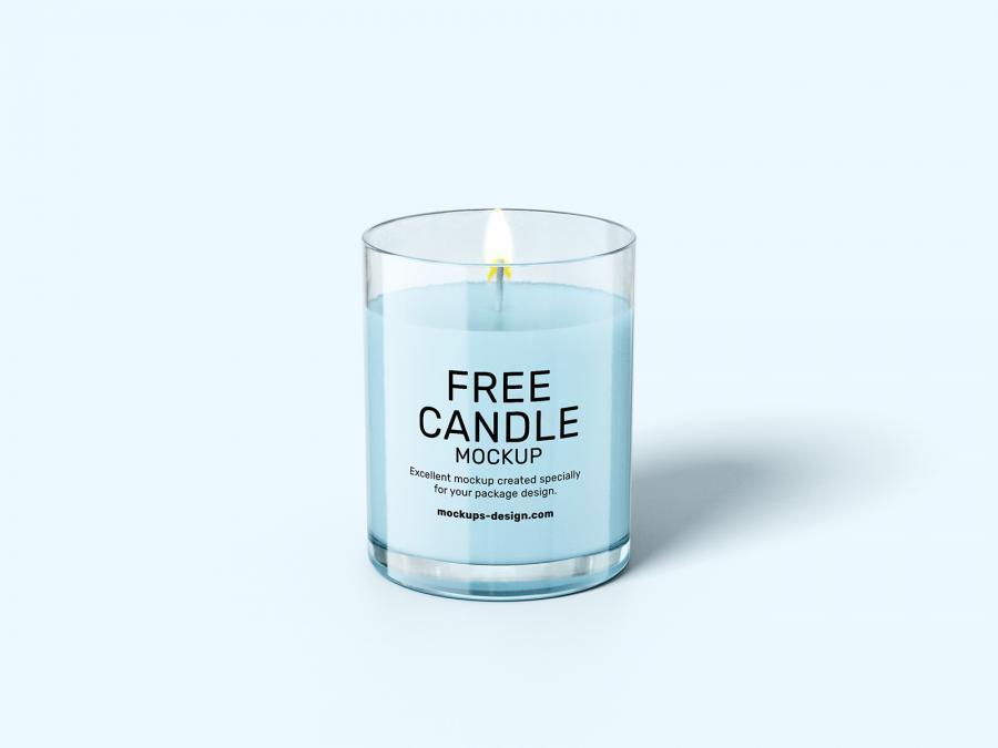 Free Candle Set Mockups (PSD)