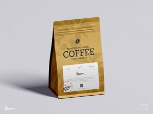 Free Coffee Branding Packaging Pouch Mockup