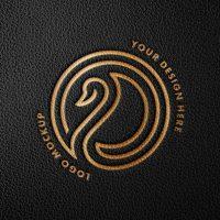 Free Debossed Foild Logo Mockup