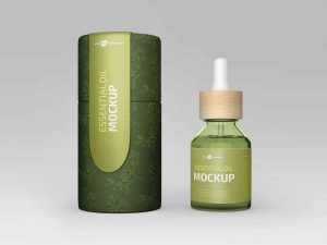 Free Essential Oil Bottle Mockup (PSD)