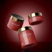 Free Glossy Cosmetic Cream Jars Mockup