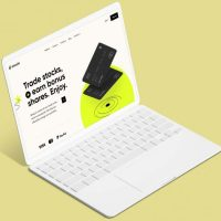 Free Laptop Tablet Mockup (PSD)