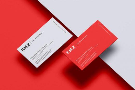 Free Modern Brand Business Card Mockup