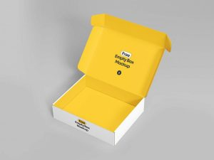 Free Open Empty Box Mockup (PSD)