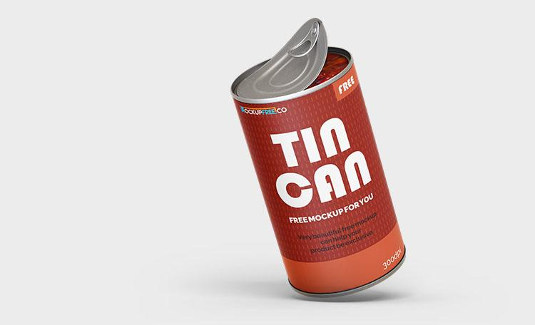 Free Tin Can Mockups (PSD)