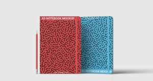 Free Two A5 Notebook Mockup