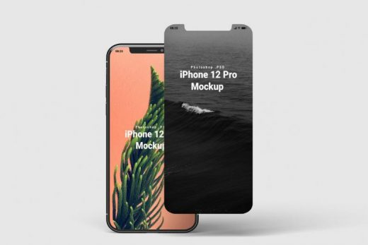 Free iPhone 12 Mockup Front View