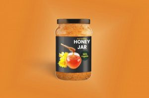 Honey Jar / Jam Brand Free Mockup (PSD)