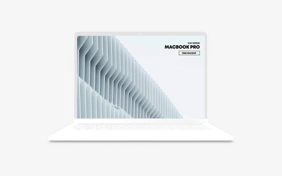 MacBook Pro Clay Free Mockup (PSD)