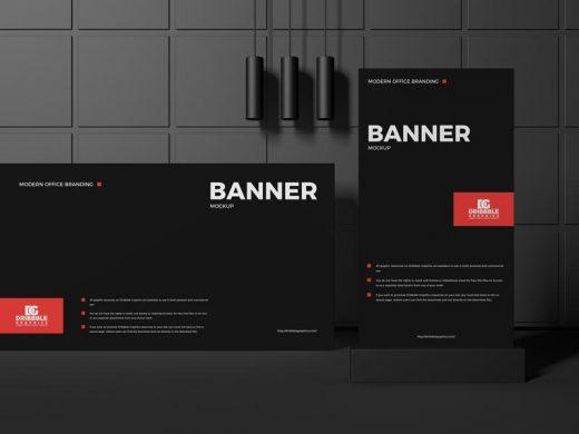 Modern Office Branding Banner Free Mockup (PSD)