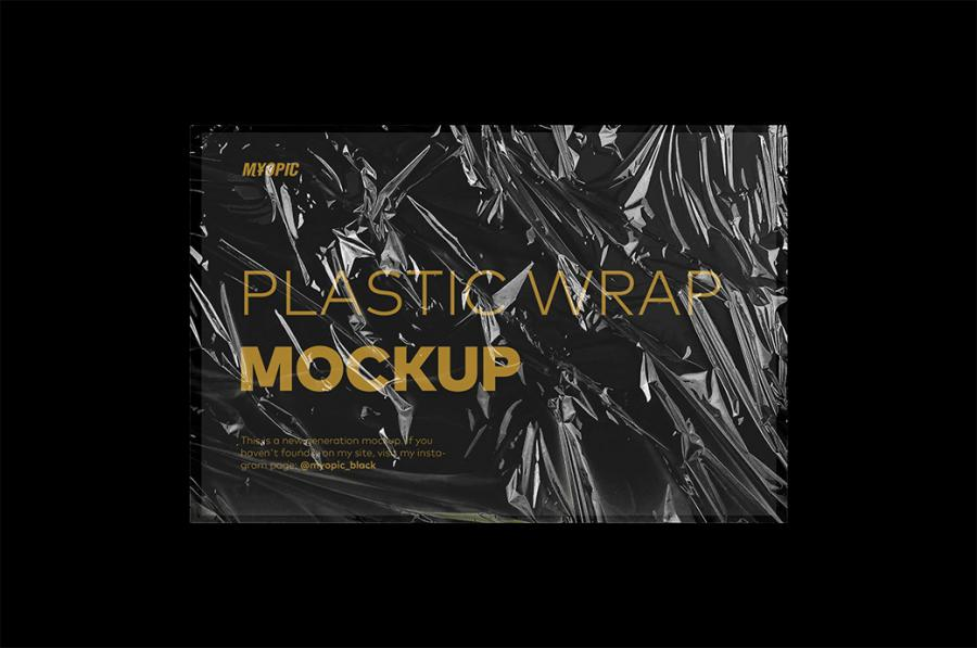 Plastic Wrap Texture Free Mockup (PSD)