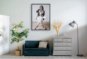 Poster Frame in Room Free Mockup (PSD)