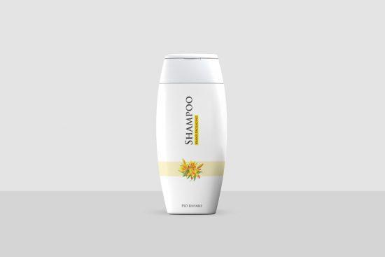 Shampoo Bottle Free Mockup (PSD)