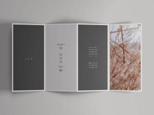 4-Fold Open Brochure Free Mockup