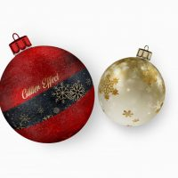 Christmas Ball Ornaments Free Mockup (PSD)