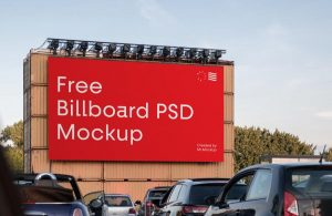 Free Big Billboard Mockup (PSD)