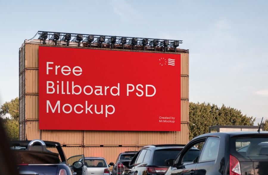 Free Big Billboard (PSD) Mockup