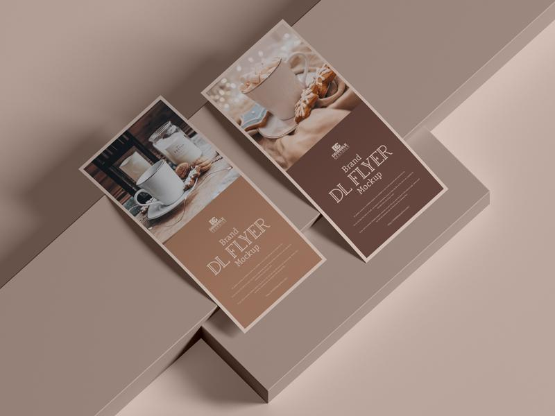 Free Brand DL Flyer Mockup (PSD)