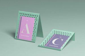 Free Brochure Display Mockup (PSD)