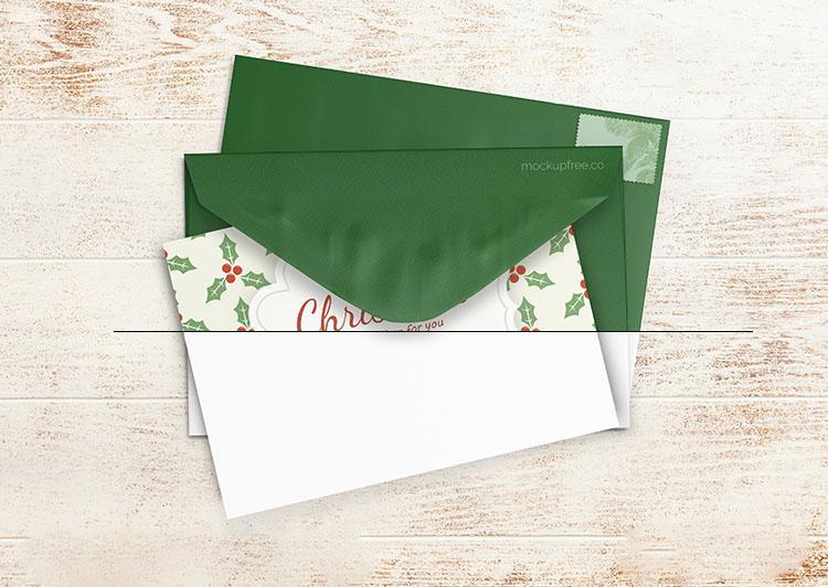 Free Christmas Cards Mockup (PSD)