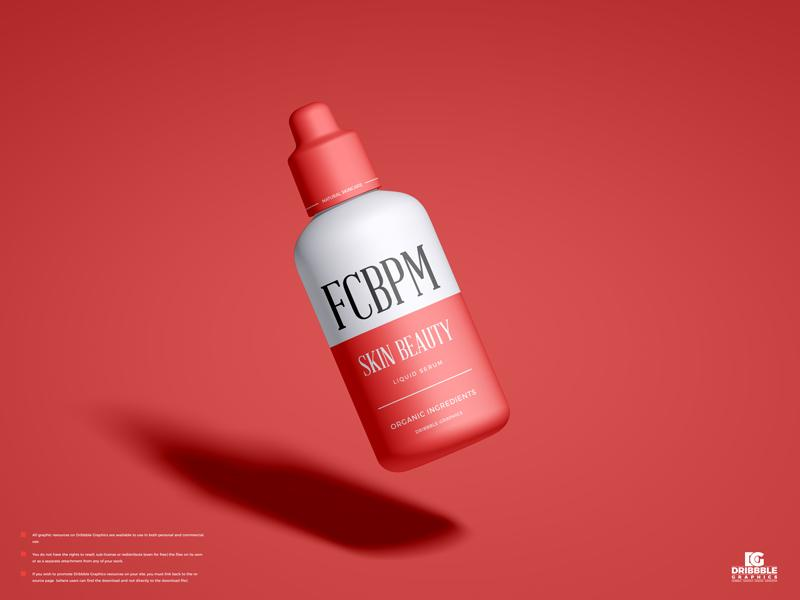 Free Cosmetic Serum Package Mockup (PSD)