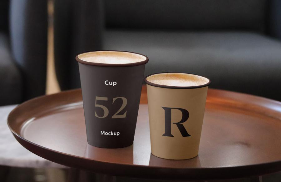 Free Cup Mockups (PSD)