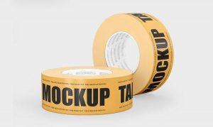 Free Duct Tape Mockup (PSD)