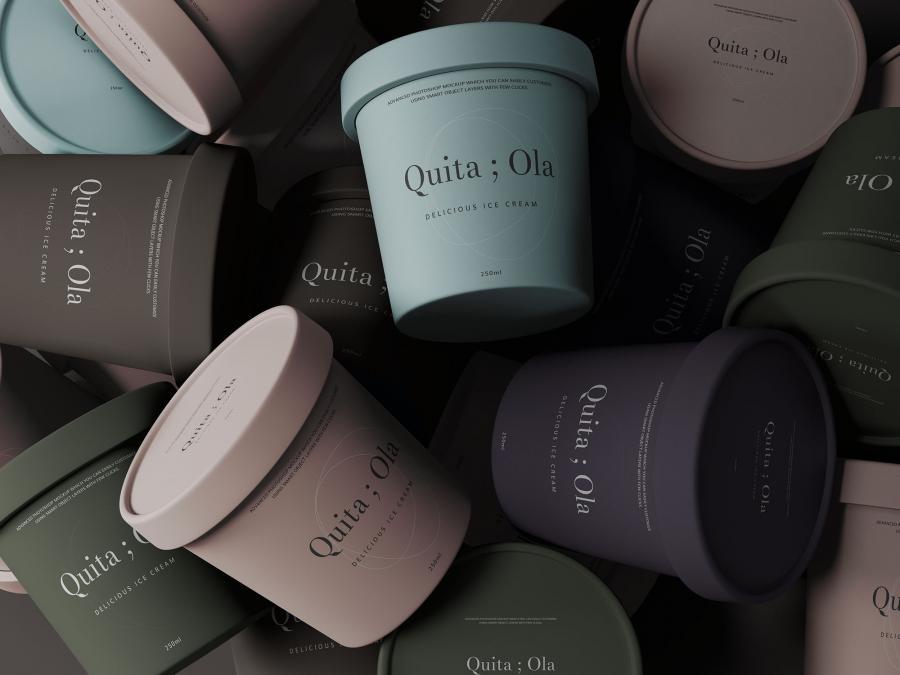 Free Mini Ice Cream Cups Mockup (PSD)