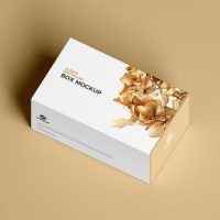 Free Slider Packaging Box Mockup