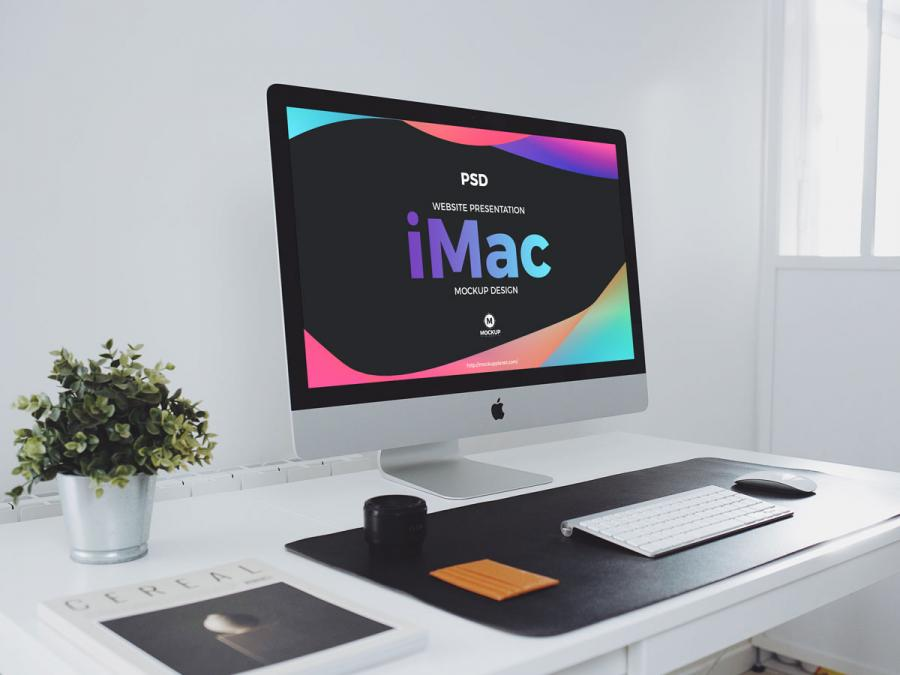 Free Website Presentation iMac Mockup