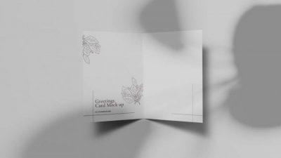 Greeting Card Free Mockup Template