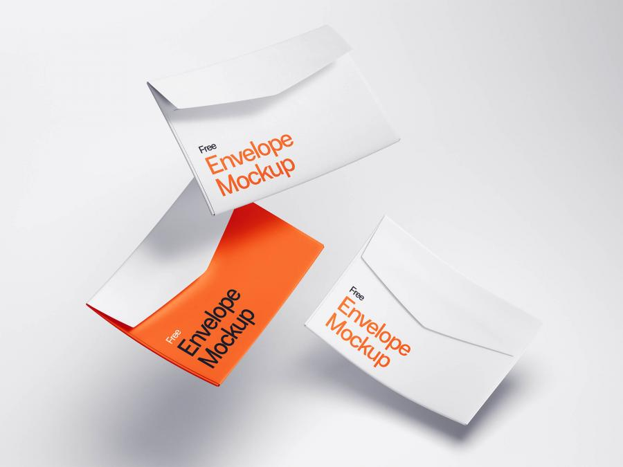 Levitating Envelope Free Mockups (PSD)