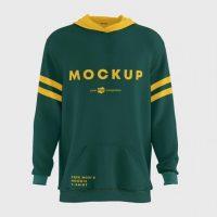 Men's Hoodie T- Shirt Mockup Set