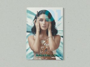 Minimalist Magazine Cover Free Mockup (PSD)