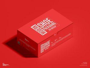 Modern Shoe Packaging Box Free Mockup