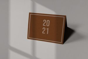 2021 Calendar Free Mockup (PSD)